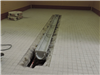 Installed trench drain in Women's changing room