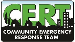 green and black sign that says community emergency response team