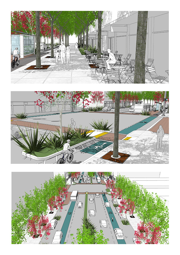 San Pablo Avenue proposed streetscape graphics