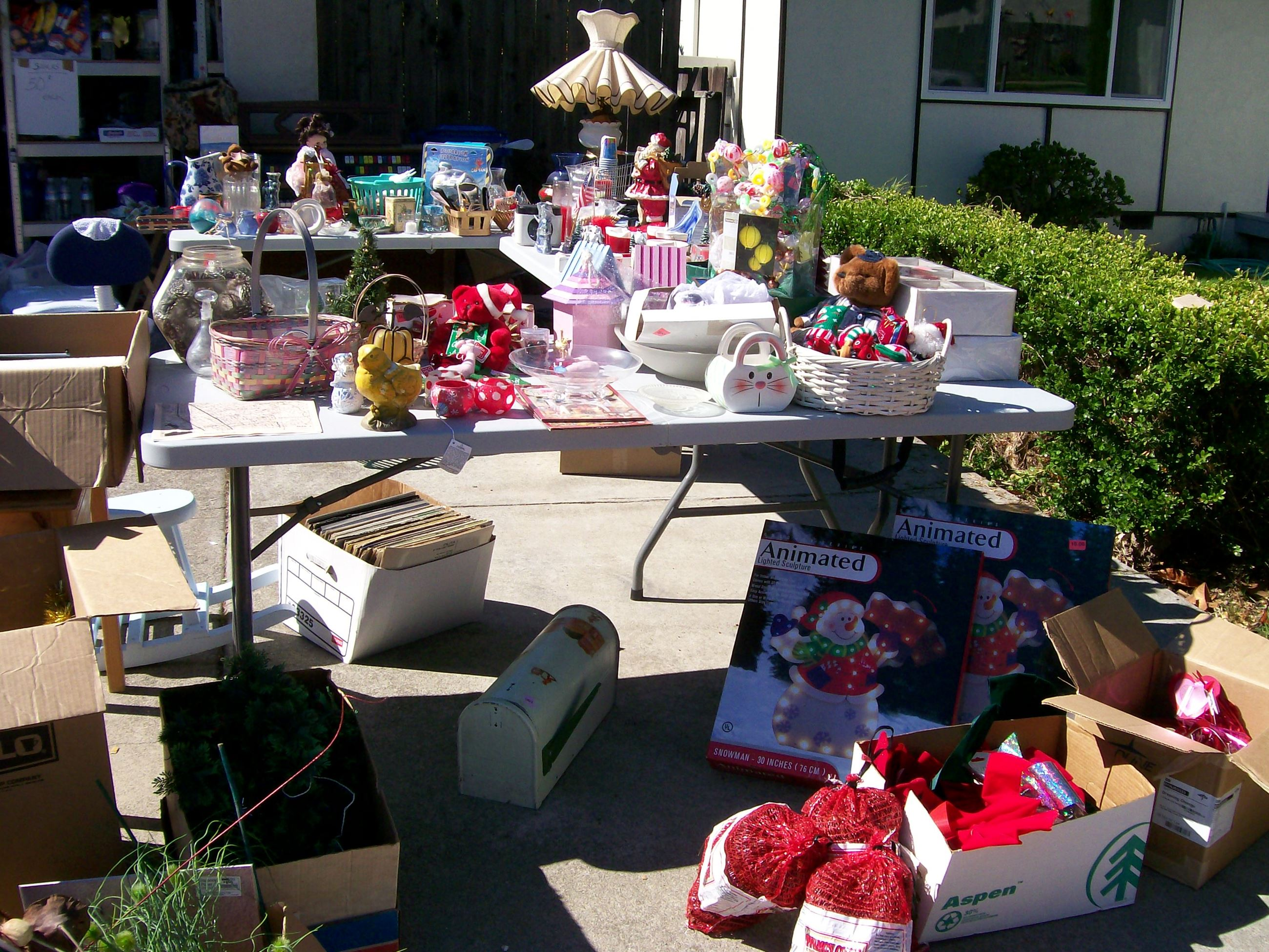 Items at a Garage Sale