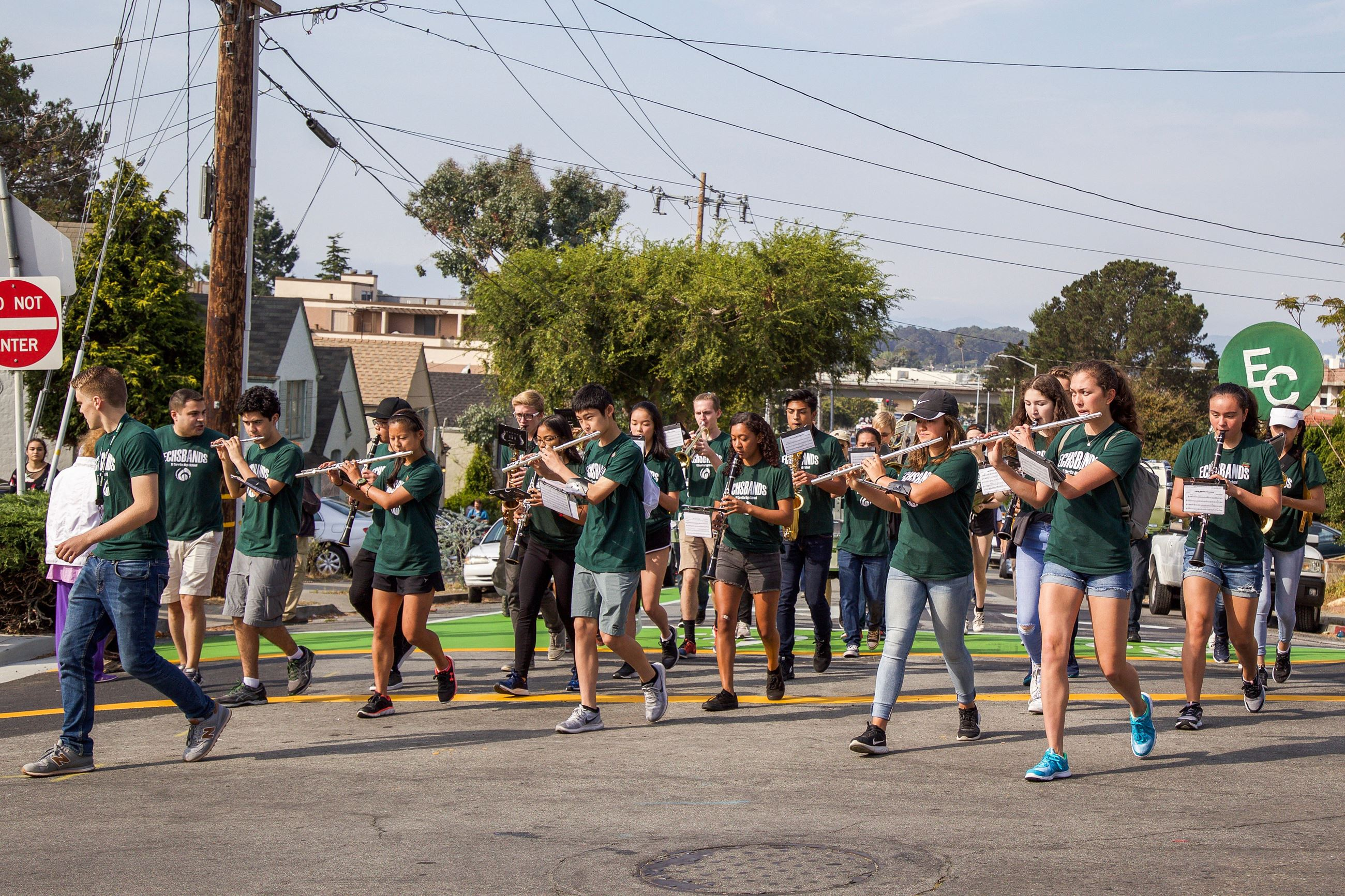 210 ECHS band in Parade 3- Photo by Marin Stuart