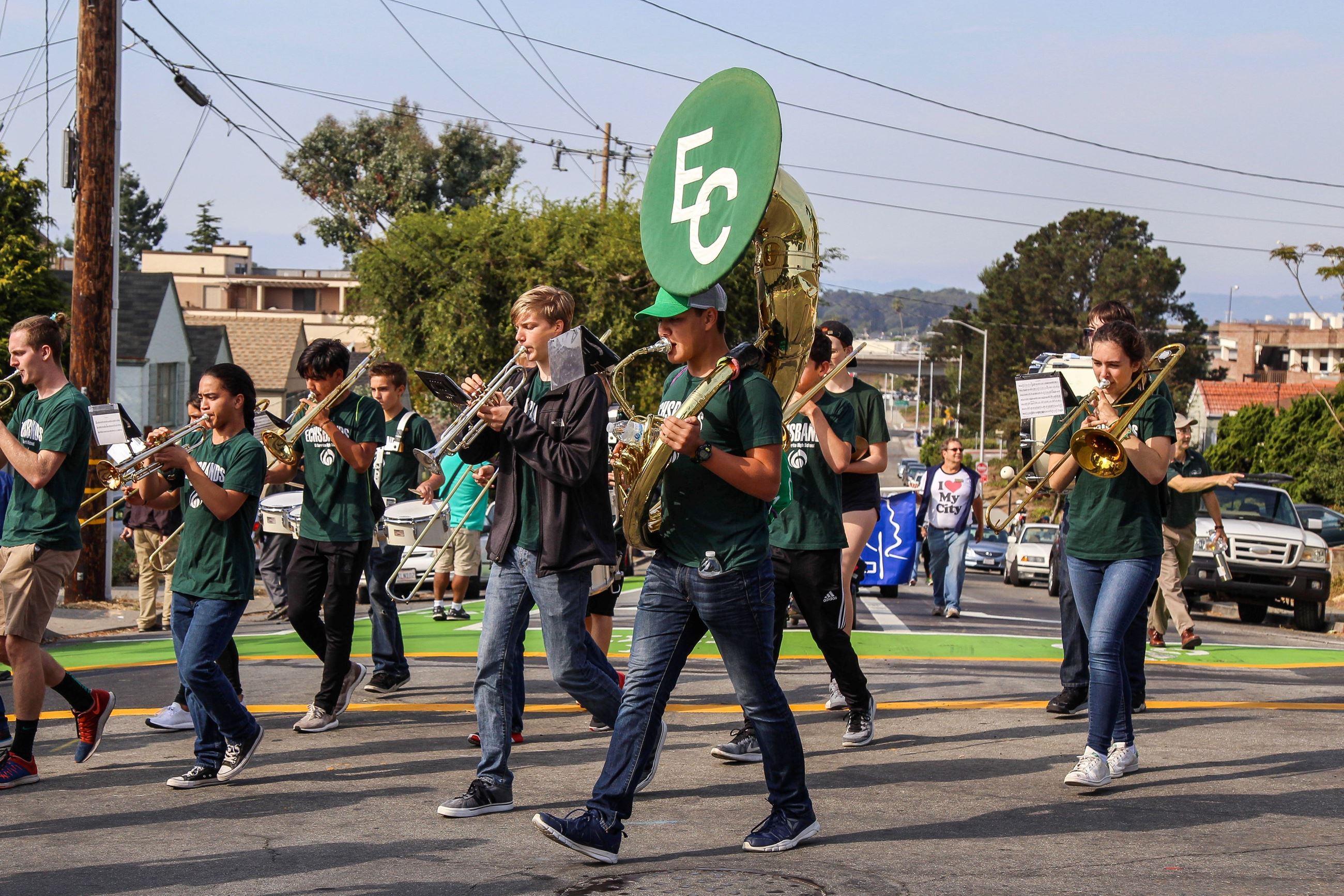211 ECHS band in Parade 4- Photo by Marin Stuart