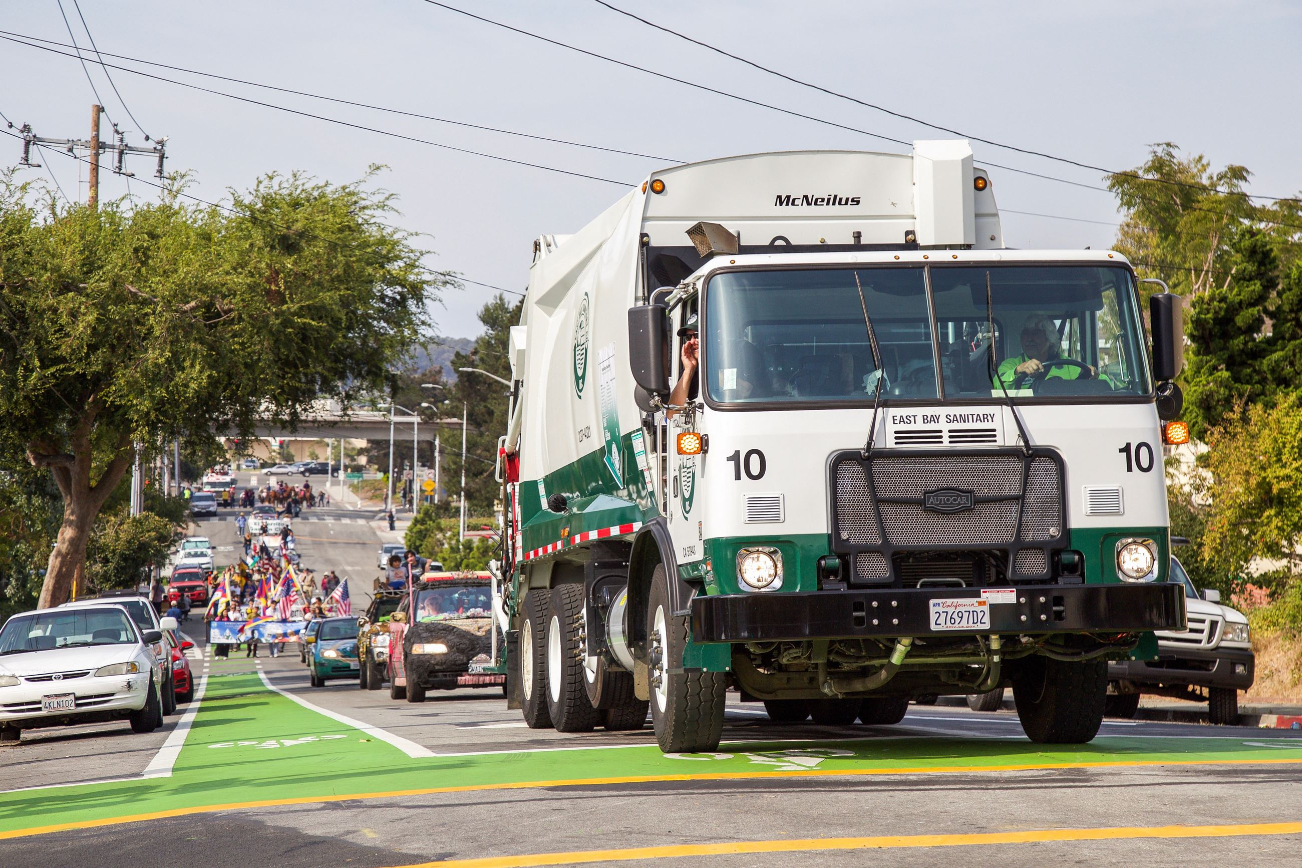265 Garbage truck in Parade - Photo by Marin Stuart