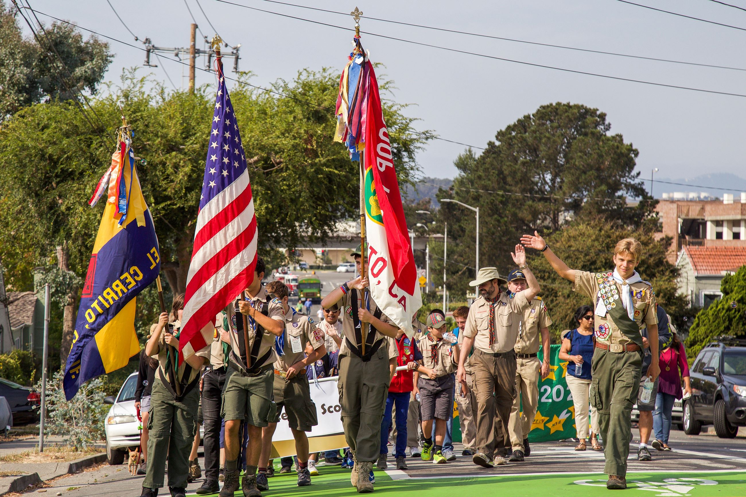 274 Scouts in Parade - Photo by Marin Stuart