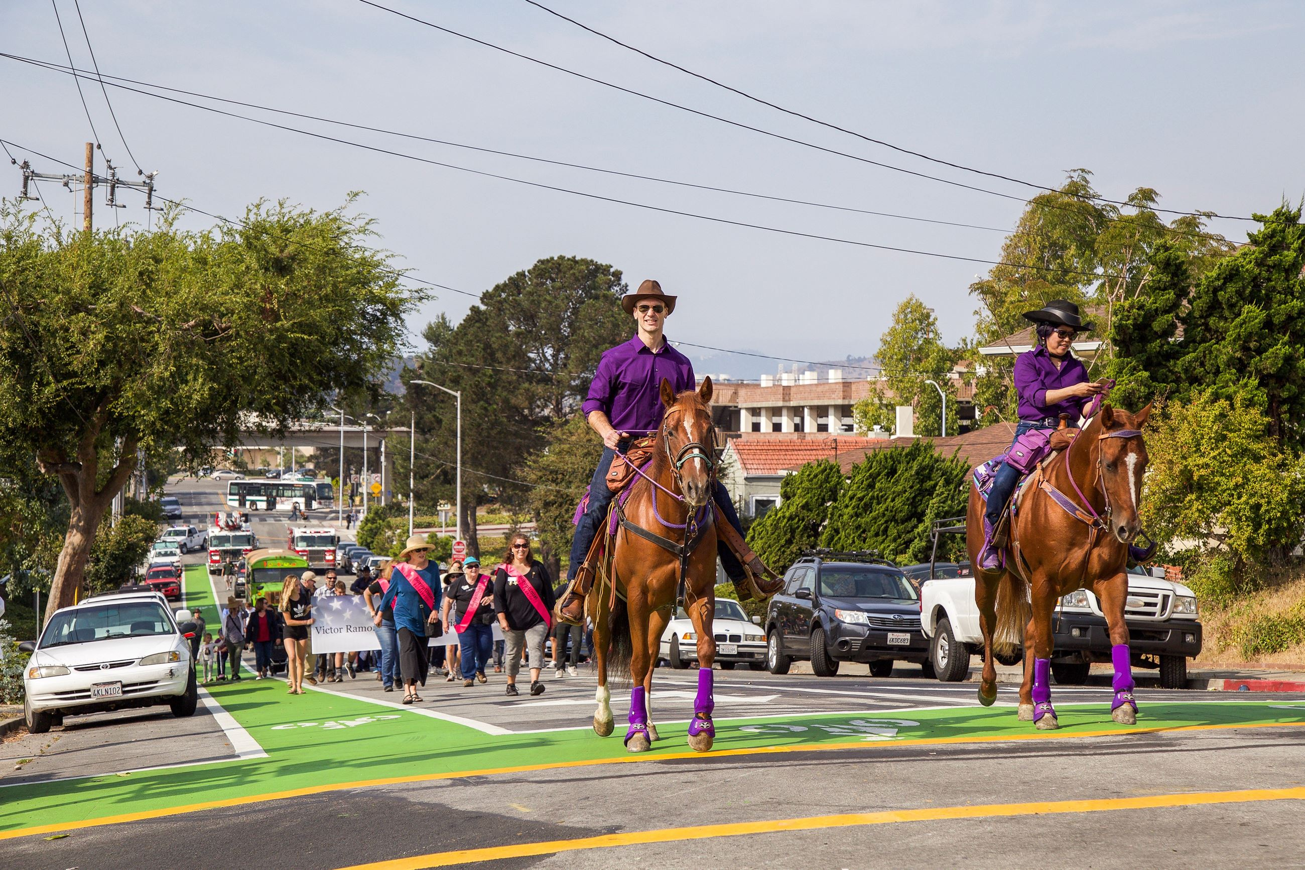 282 Soroptimist Horses in Parade 1 - Photo by Marin Stuart