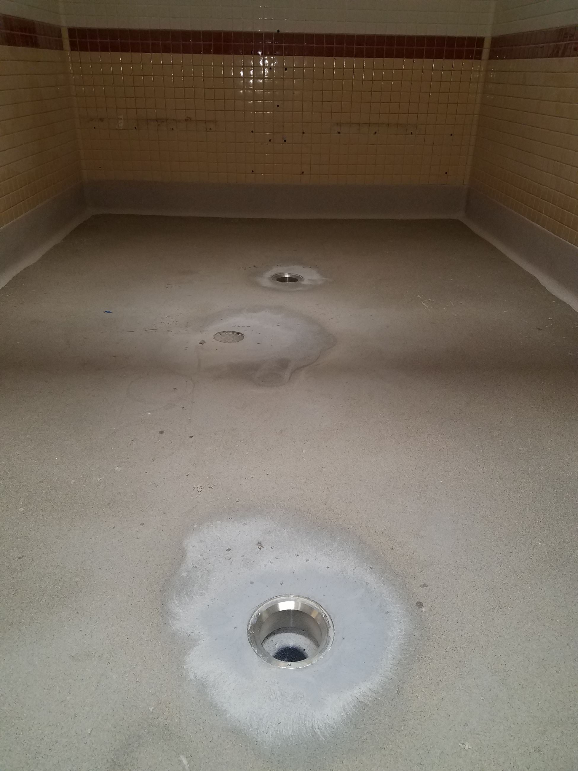 Women's Locker Room Drain Remodeling