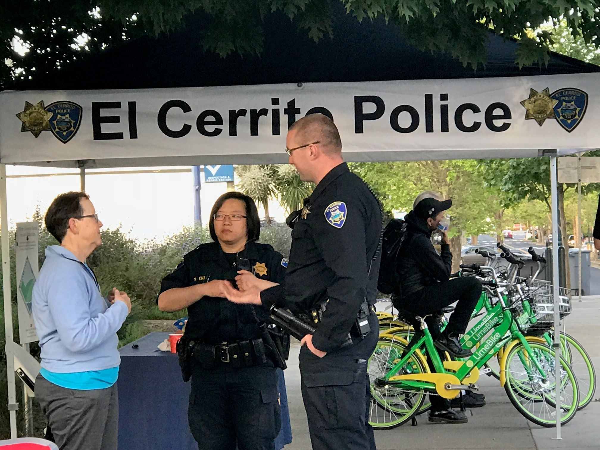 El Cerrito Police department at Bike to Work Day 2018