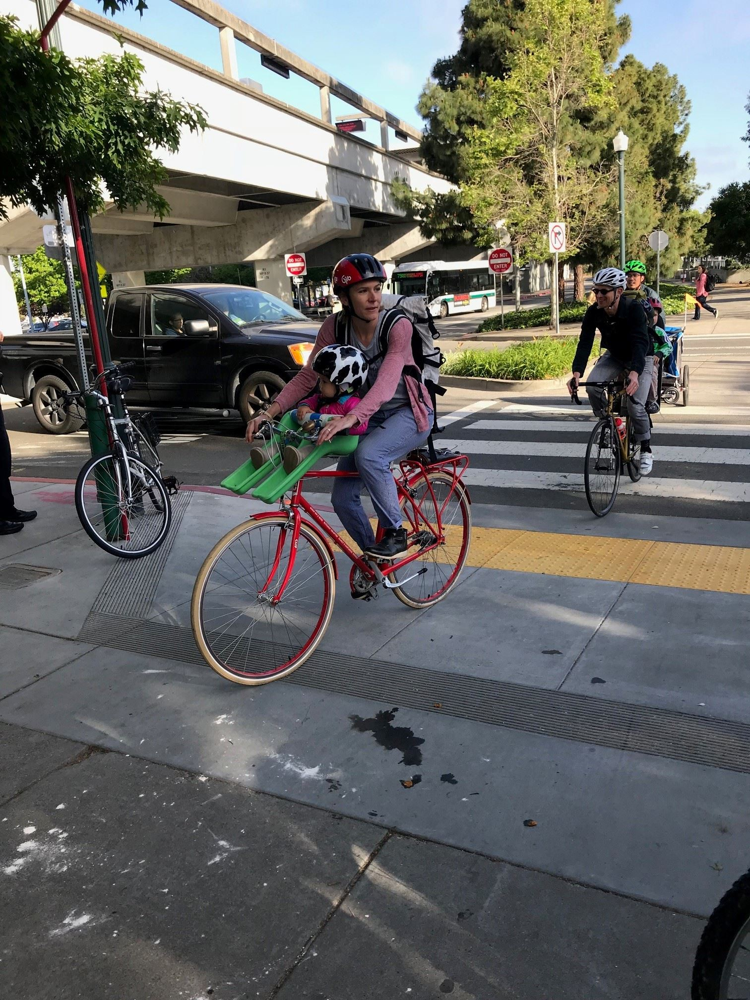 Bikers at Bike to Work Day 2018