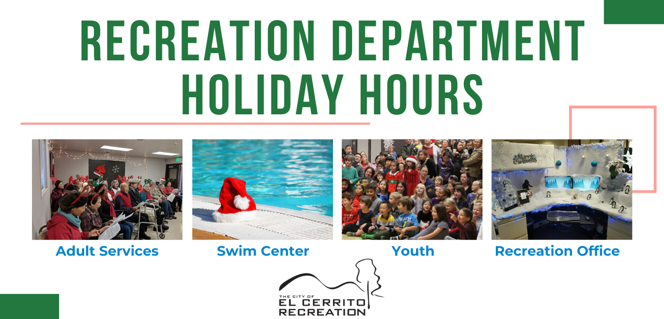 Recreation department holiday hours