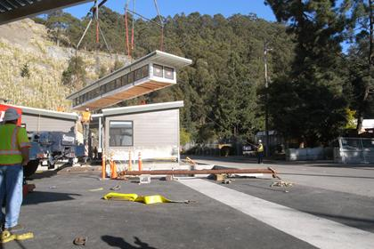 modular building at  El Cerrito Recycling & Environmental Resource Center