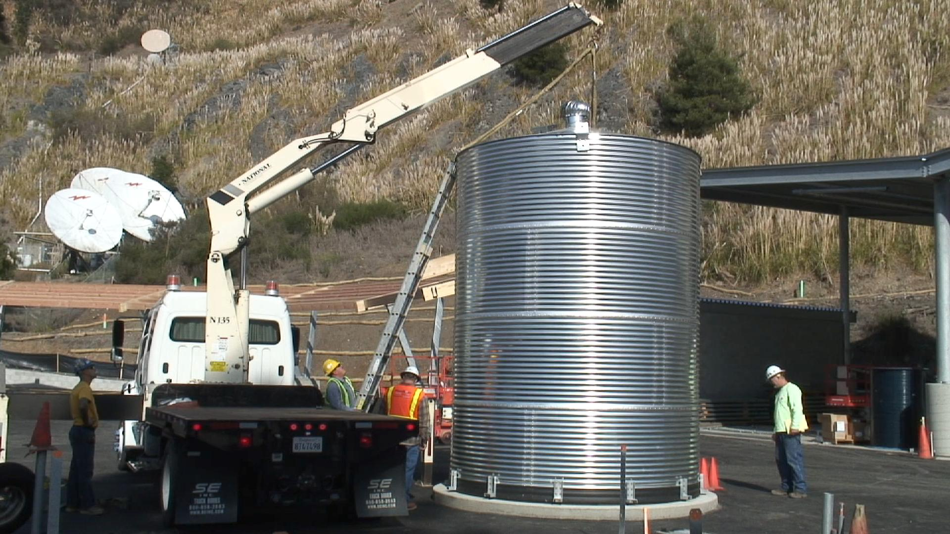 Water Tank at El Cerrito Recycling & Environmental Resource Center
