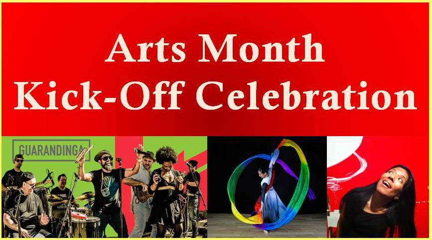 2016 Arts Month Kickoff Celebration banner art