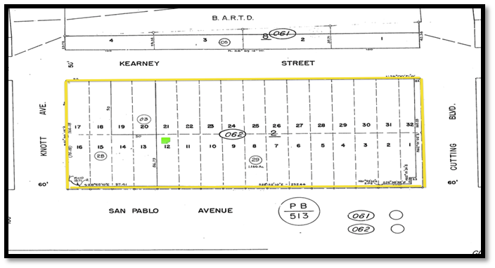 Mayfair Parcel Map