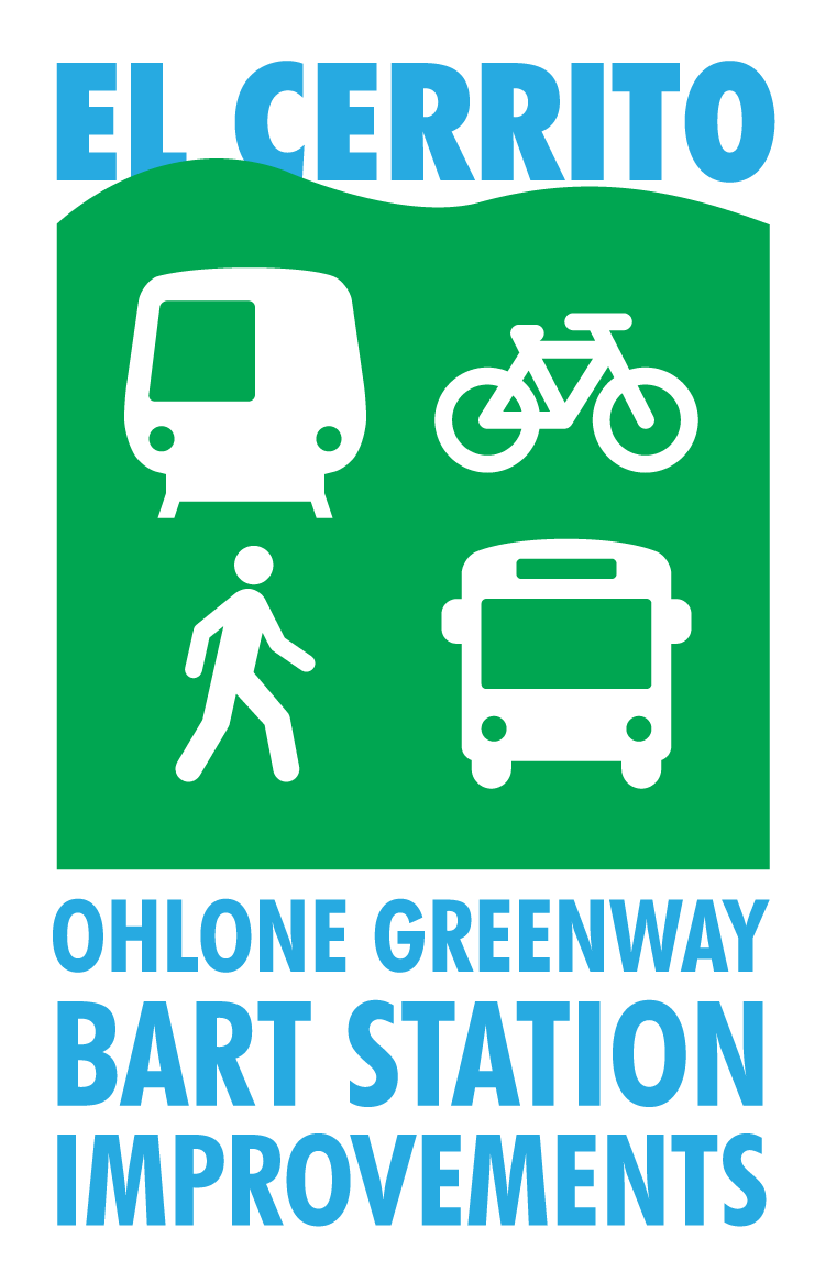 El Cerrito Ohlone Greenway BART station Improvements graphic