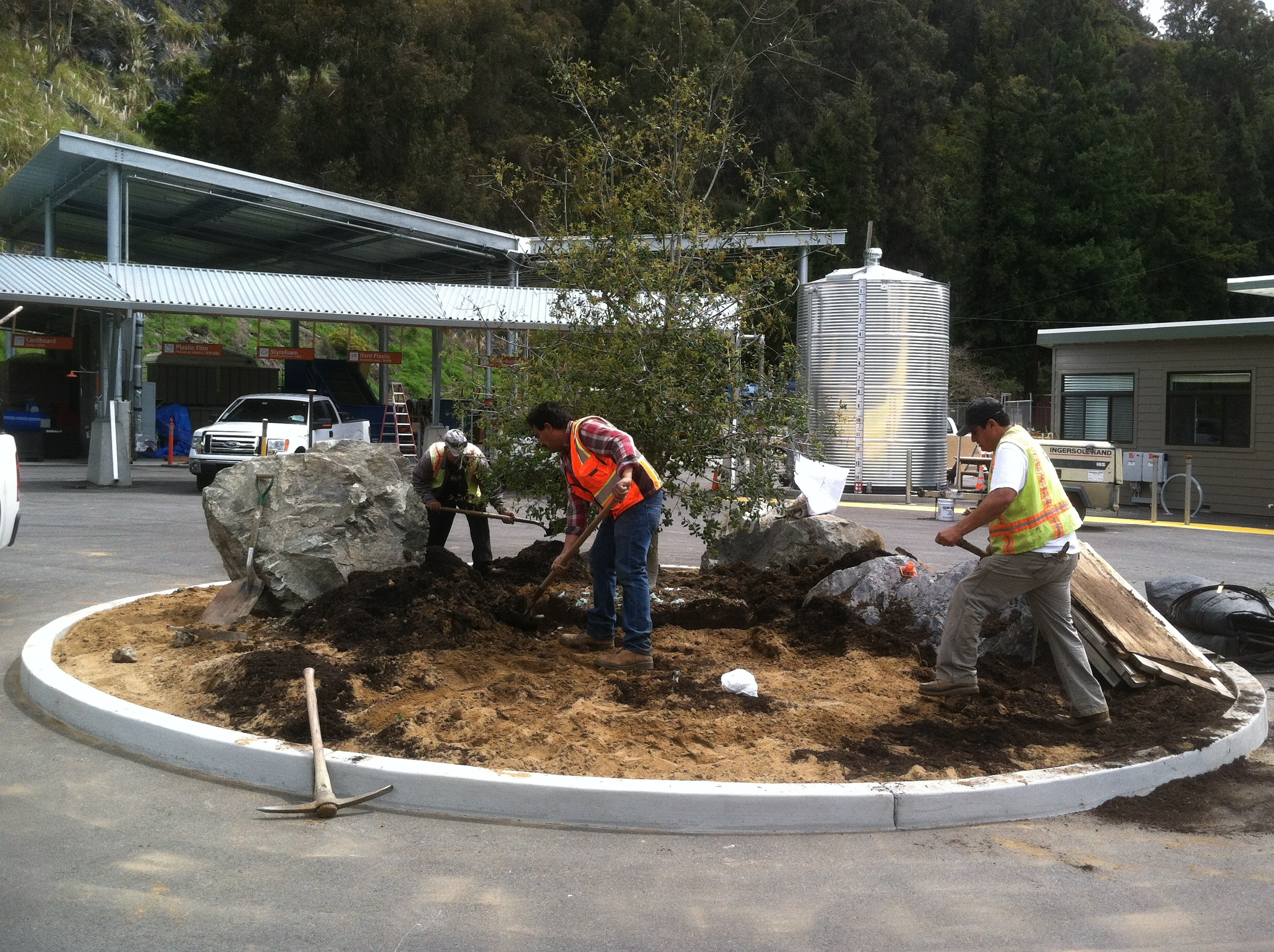 photo of landscaping work